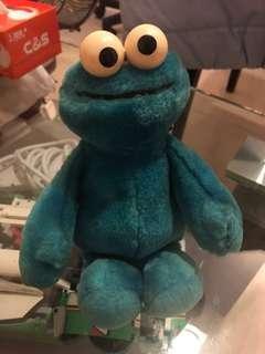 Cookie Monster 芝麻街毛公仔
