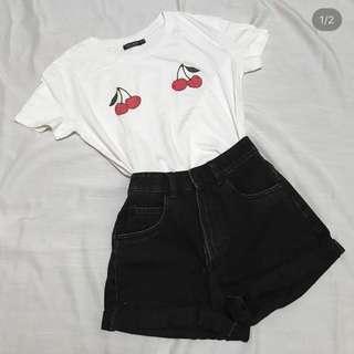 Bershka Cherry Tshirt