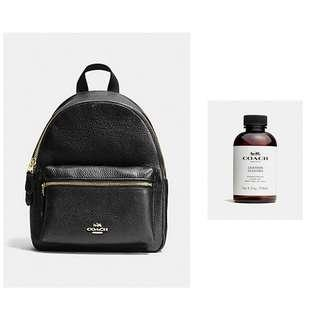 🚚 Coach Charlie Mini Backpack Black and Leather Cleaner