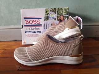 35b1c7cf8a6 New Skechers BOBS Phresher Home Stretch Taupe Knit Sneakers sz 11