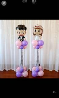 Cute ballon wedding decoration gown bride