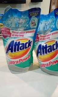ATTACK laundry washing detergent refill pack