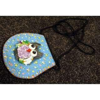 Little owl bag, handmade, from Germany