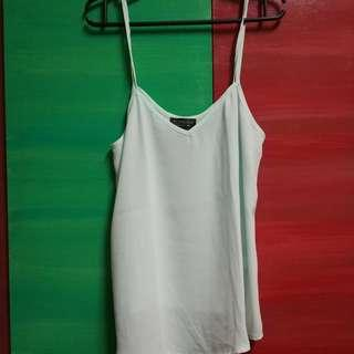 Very Light Green Camisole Top / Sheer Tank top