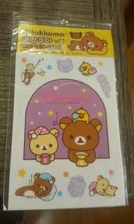 鬆弛熊 玻璃透明貼紙
