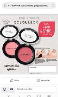Colour box blush on