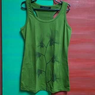 Racerback Tank top Green with Floral Detail
