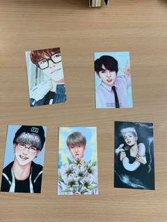 BTS fan art photocards