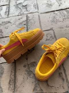 PUMA FENTY Cleated Creeper Suede (Yellow Pink)