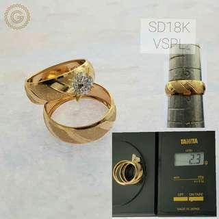 18K Saudi Gold Wedding Rings
