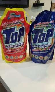 (2 refills) TOP laundry washing detergent refill for indoor drying