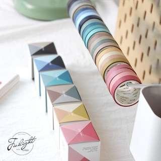 [PO] 4 Rolls Of Plain Washi Tape Set