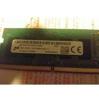 DDR4 notebook ram 2666 4GB 記憶體