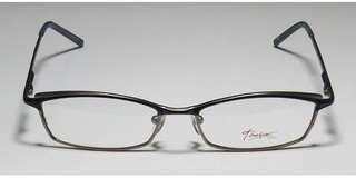 Thalia Grazia Womens PURPLE / BROWN METAL FRAME /Ladies Designer Full-rim Spring Hinges Popular Shape Upscale Sleek Vision Care NOW AT 1300