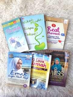 Bundling 6 Buku Islami Tema Pernikahan dan Umroh-Haji