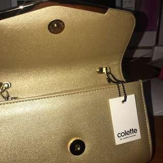 Gold (and very extra) Colette Clutch/Purse