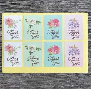 (Free postage) 56 Thank You Stickers Labels