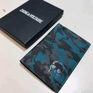 Zadig & Voltaire 藍色迷彩Passport case