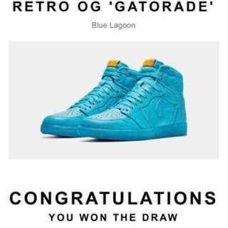 NIKE AIR JORDAN 1 RETRO OG 'GATORADE' Blue Lagoon