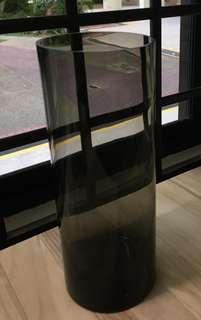🚚 Tall Tinted Brown Glass Cylinder/Holder