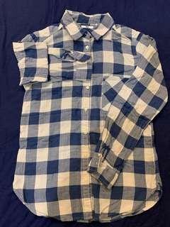 🚚 「3件500」Uniqlo 藍白格仔 棉質襯衫