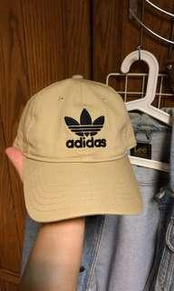 🚚 90%New Adidas original 三葉草老帽 愛迪達老帽 卡其色