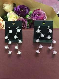 🐡 Zig Zag Flower Earrings