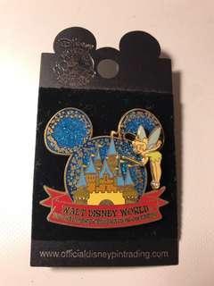迪士尼襟章 Disneyland Tinkerbell 加城堡 購自美國佛羅里達州- 奧蘭多的迪士尼世界WALT Disney World