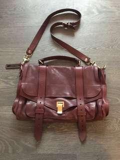 100% Authentic Proenza Schuyler PS1 Bag in Burgundy Medium Size