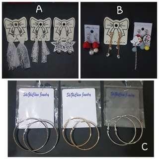 Anting2 paket 1 paket 100rb 3pcs