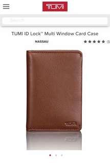 Tumi multiwindow card case
