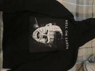 Supreme Hellraiser zip up hoodie sweatshirt  : L碼
