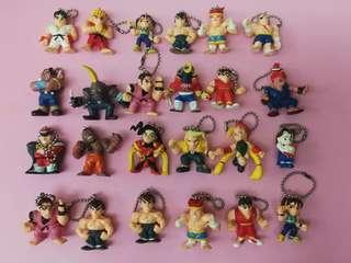 CAPCOM 街頭霸王 Street Fighter 匙扣機 景品 街霸 共18款24隻 (現在最高出價$118,16/2截,留意內文)
