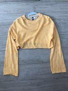 H&M Yellow Cropped Sweater