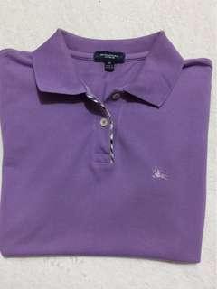 Burberry黑標淺紫色polo衫