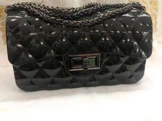Jelly sling bag color black