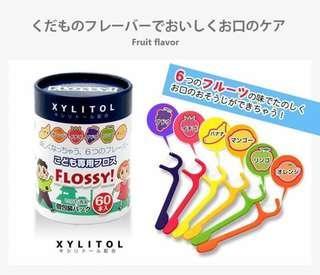 🚚 日本阿卡將UFC-兒童水果口味牙線棒
