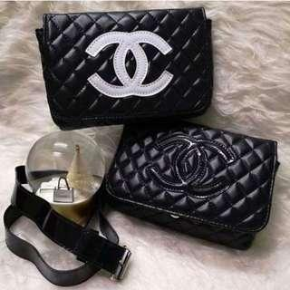 dae286c64d3d2b Chanel Black *GWP* Quilted Belt Bag / Waist Pouch / Clutch /