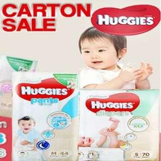 Platinum Pants/Diapers (HUGGIES) CARTON SALE