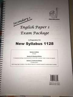 Sec 1 English Paper 1 Exam Package (New Syllabus 1128)