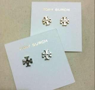 Tory Burch 耳環 銀色 全新