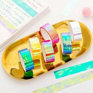 🚚 [INSTOCK] Holographic Washi Tapes