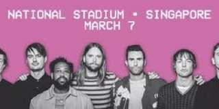 3 x Cat 2 Maroon 5 tickets for sale