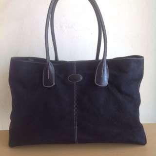 Original Tod's Suede Large Shoulder Tote Bag