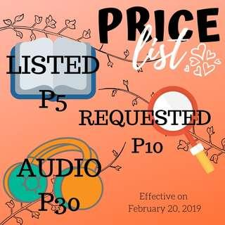 Price Update