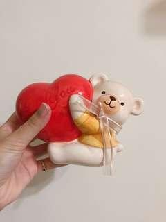 🚚 熊 愛心 動物撲滿 存錢筒
