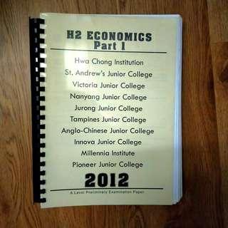 H2 Economics Prelim Paper Answers (2012)