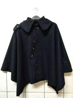 🚚 (二手)深藍色斗篷外套