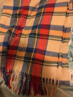 格仔 校園風 簡約 頸巾