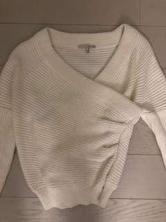 Oak+Fort O/S off the shoulder white sweater